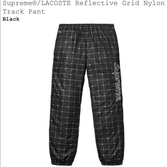 1c10fd1e1e3 Supreme X Lacoste Grid Nylon Track pants Black L